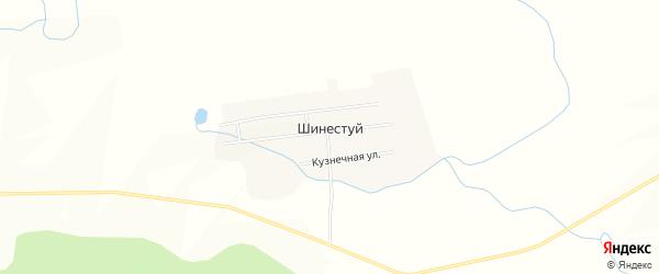 Карта улуса Шинестуй в Бурятии с улицами и номерами домов
