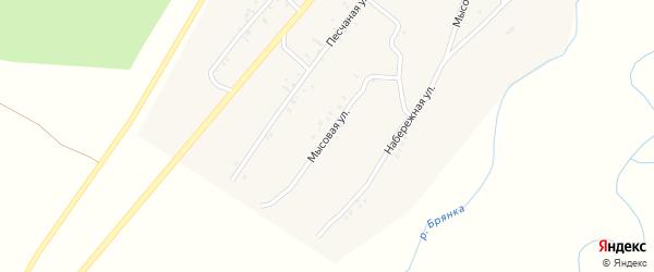 Мысовая улица на карте села Новой Бряни с номерами домов
