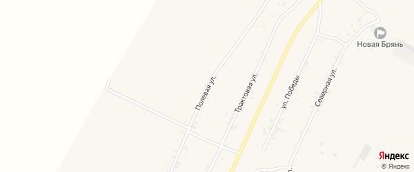 Полевая улица на карте села Новой Бряни с номерами домов