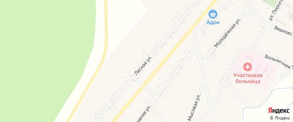 Лесная улица на карте поселка Челутай с номерами домов