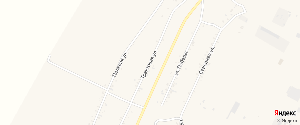 Трактовая улица на карте села Новой Бряни с номерами домов
