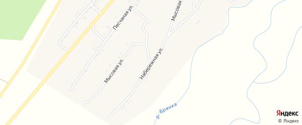 Набережная улица на карте села Новой Бряни с номерами домов