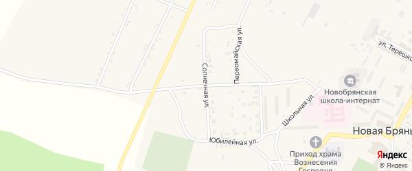 Солнечная улица на карте села Новой Бряни с номерами домов