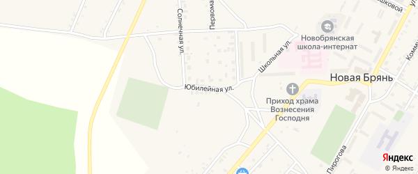 Юбилейная улица на карте села Новой Бряни с номерами домов