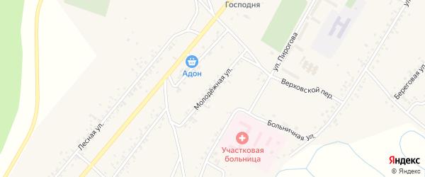 Молодежная улица на карте села Новой Бряни с номерами домов