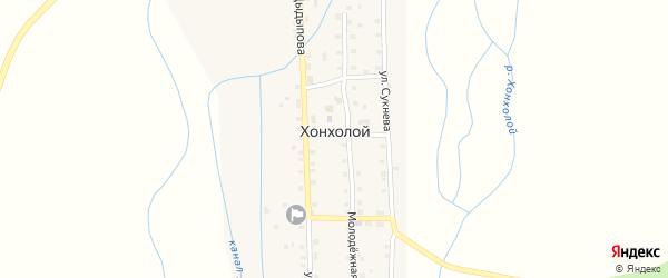 Улица Цыдыпова на карте Хонхолой улуса с номерами домов