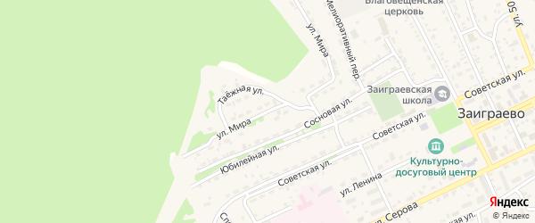 Улица Мира на карте поселка Заиграево с номерами домов