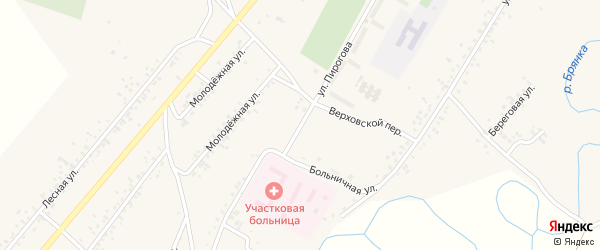 Улица Пирогова на карте села Новой Бряни с номерами домов