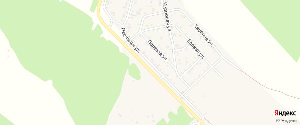 Песчаная улица на карте поселка Заиграево с номерами домов