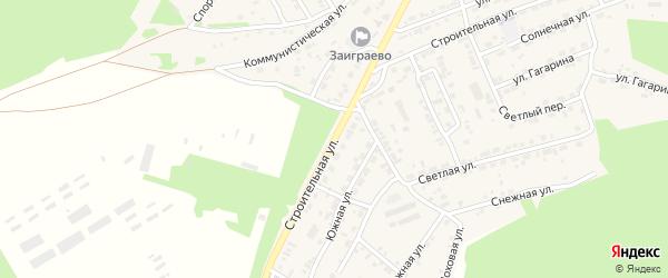 Строительная улица на карте поселка Заиграево с номерами домов