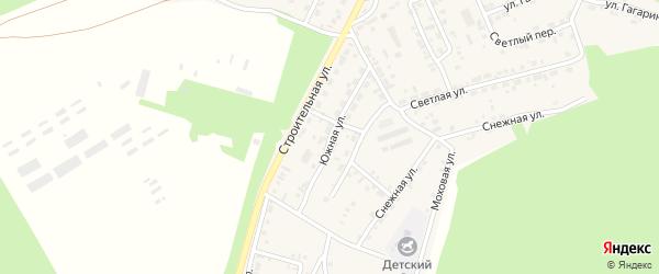 Южная улица на карте поселка Заиграево с номерами домов