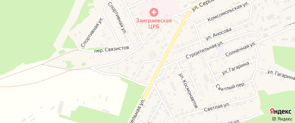 Коммунистический переулок на карте поселка Заиграево с номерами домов