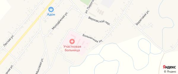 Больничная улица на карте села Новой Бряни с номерами домов