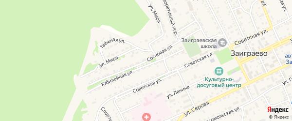 Сосновая улица на карте поселка Заиграево с номерами домов