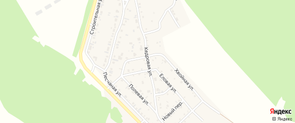 Кедровая улица на карте поселка Заиграево с номерами домов