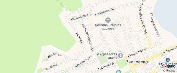Мелиоративный переулок на карте поселка Заиграево с номерами домов