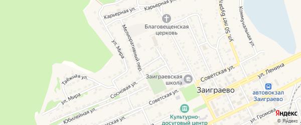 Зеленый переулок на карте поселка Заиграево с номерами домов