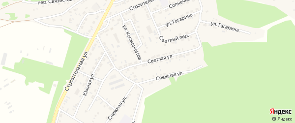 Светлая улица на карте поселка Заиграево с номерами домов
