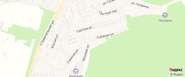 Снежная улица на карте поселка Заиграево с номерами домов