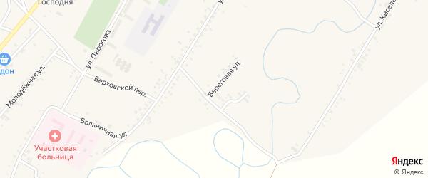 Береговая улица на карте села Новой Бряни с номерами домов