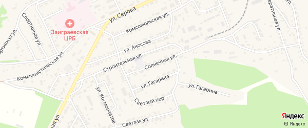 Солнечная улица на карте поселка Заиграево с номерами домов