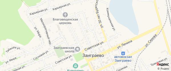 Первомайская улица на карте поселка Заиграево с номерами домов