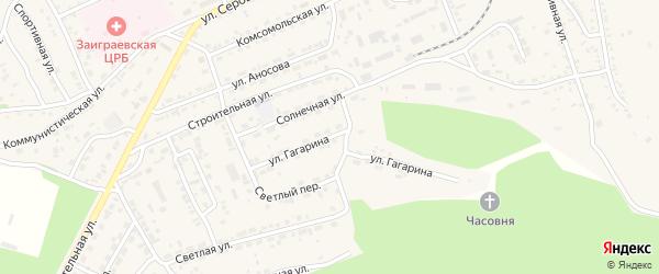 Улица Гагарина на карте поселка Заиграево с номерами домов