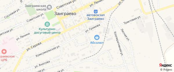 Рабочая улица на карте поселка Заиграево с номерами домов