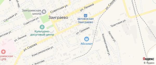 Улица Серова на карте поселка Заиграево с номерами домов