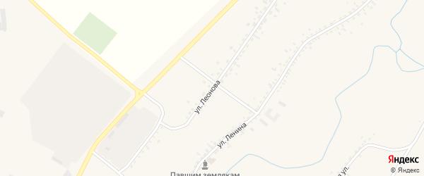 Улица Леонова на карте села Новой Бряни с номерами домов