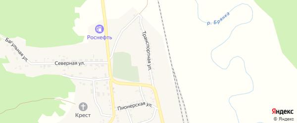 Транспортная улица на карте поселка Заиграево с номерами домов