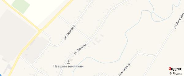 Улица Ленина на карте села Новой Бряни с номерами домов