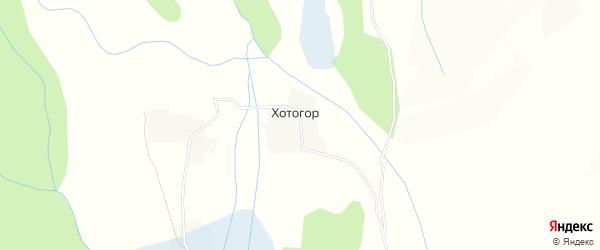 Карта улуса Хотогор в Бурятии с улицами и номерами домов