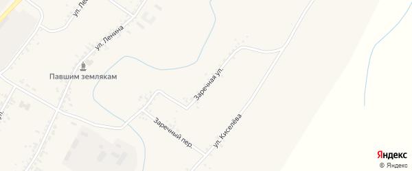 Заречная улица на карте села Новой Бряни с номерами домов
