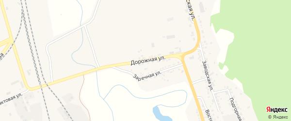 Дорожная улица на карте поселка Заиграево с номерами домов