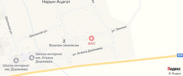 Улица Юролтуева на карте села Нарына-Ацагата с номерами домов