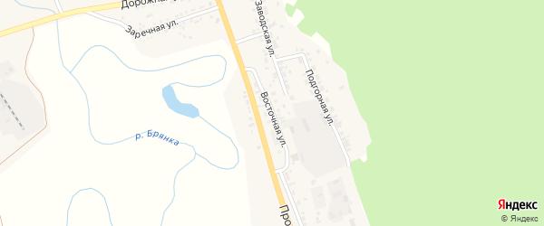 Восточная улица на карте поселка Заиграево с номерами домов