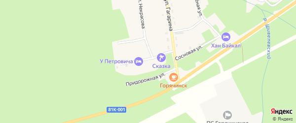 Новая улица на карте села Горячинска с номерами домов