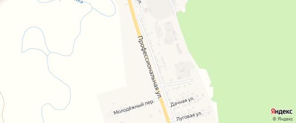 Профессиональная улица на карте поселка Заиграево с номерами домов