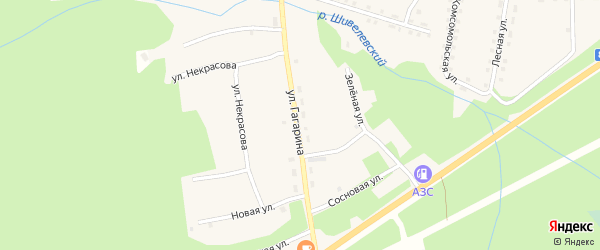 Улица Гагарина на карте села Горячинска с номерами домов