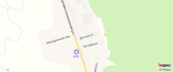 Дачная улица на карте поселка Заиграево с номерами домов