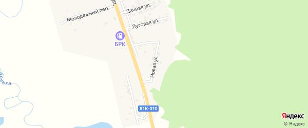 Новая улица на карте поселка Заиграево с номерами домов