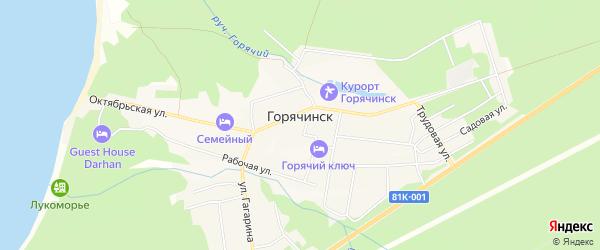 Карта села Горячинска в Бурятии с улицами и номерами домов