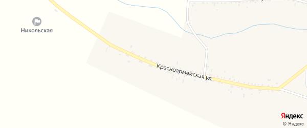Красноармейская улица на карте села Никольска с номерами домов