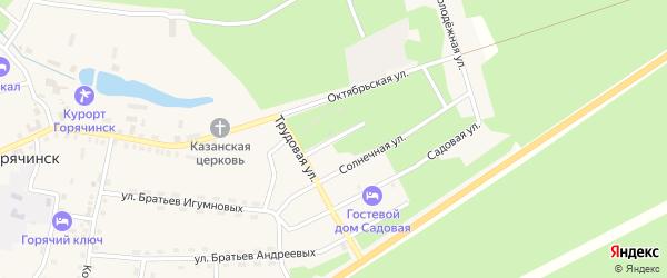 Дачная улица на карте села Горячинска с номерами домов