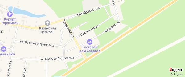 Садовая улица на карте села Горячинска с номерами домов