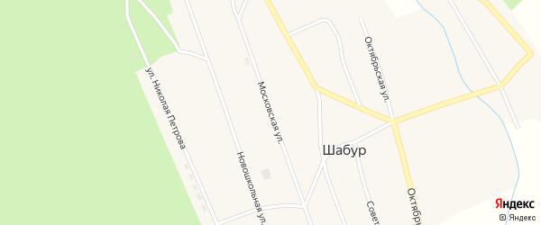 Московская улица на карте села Шабура с номерами домов