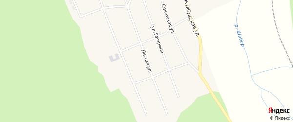 Лесная улица на карте села Шабура с номерами домов