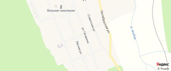 Улица Гагарина на карте села Шабура с номерами домов