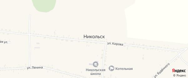 Улица ДРП на карте села Никольска с номерами домов